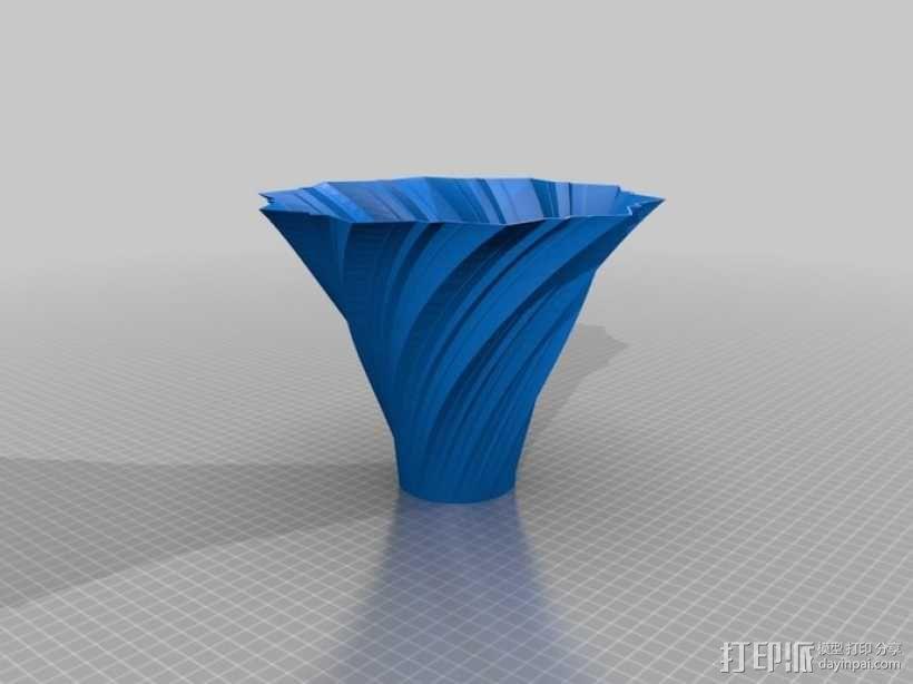 艺术旋转花瓶&灯罩 3D模型  图2