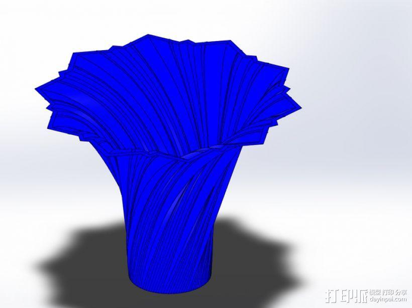 艺术旋转花瓶&灯罩 3D模型  图3