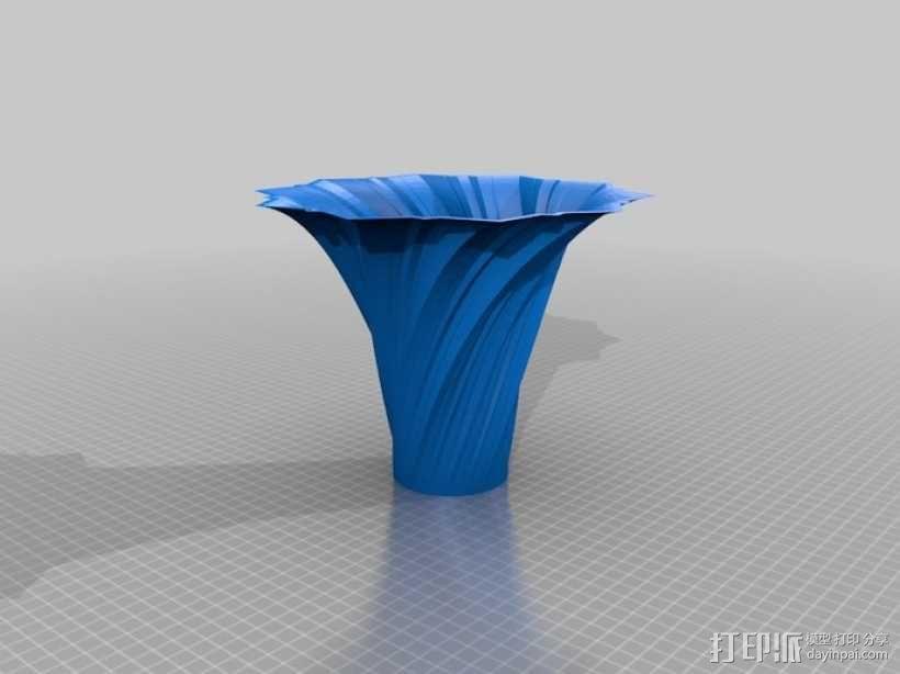 艺术旋转花瓶&灯罩 3D模型  图4