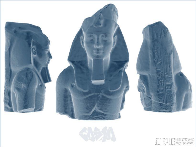 拉美西斯二世的半身头像 3D模型  图2