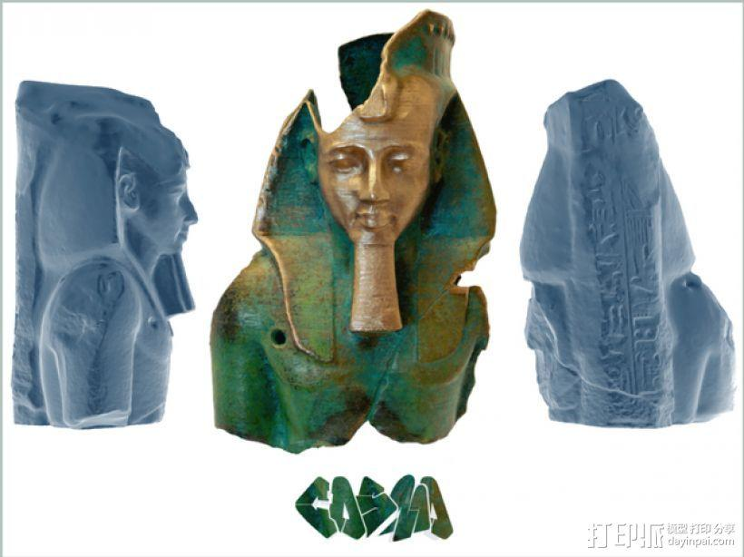拉美西斯二世的半身头像 3D模型  图1