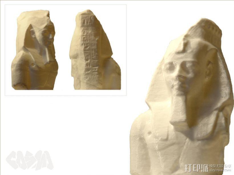拉美西斯二世的半身头像 3D模型  图3