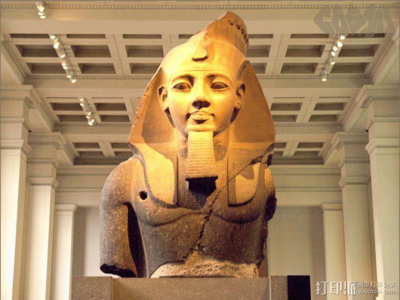 拉美西斯二世的半身头像 3D模型  图4