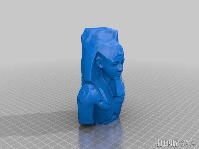拉美西斯二世的半身头像 3D模型  图6