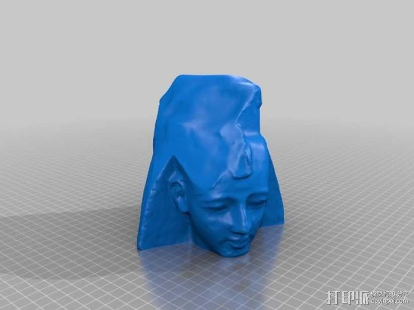 拉美西斯二世的半身头像 3D模型  图7