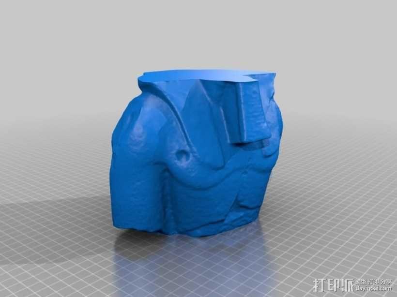 拉美西斯二世的半身头像 3D模型  图8