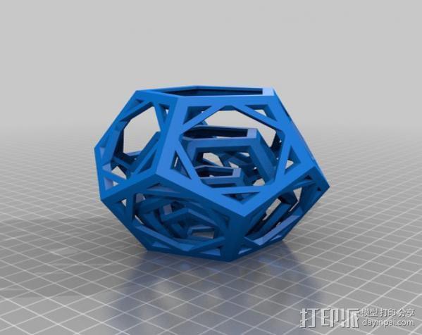 嵌套的12面体 3D模型  图2