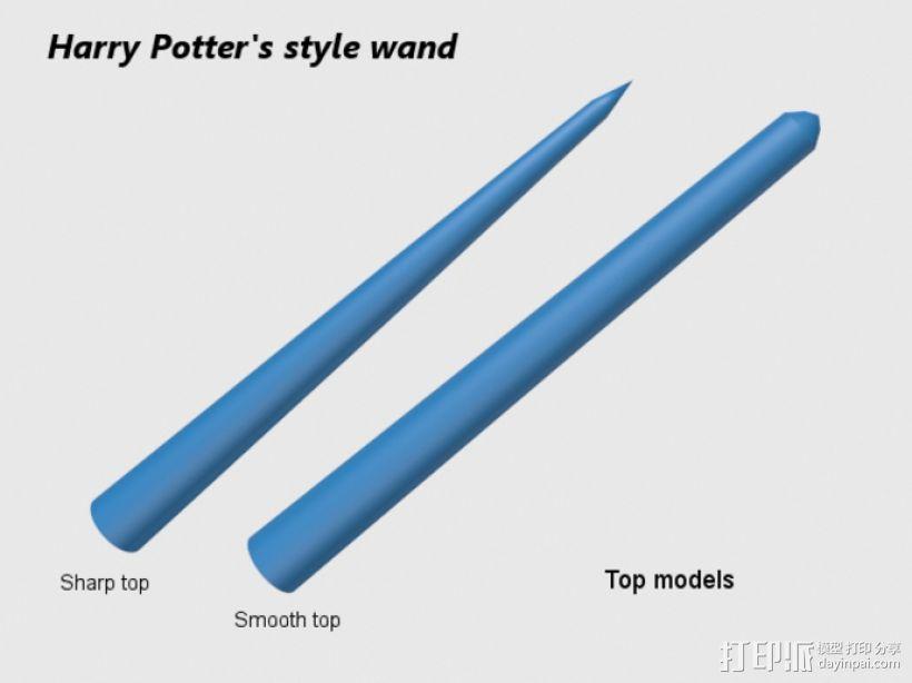 哈利波特式魔杖 3D模型  图4