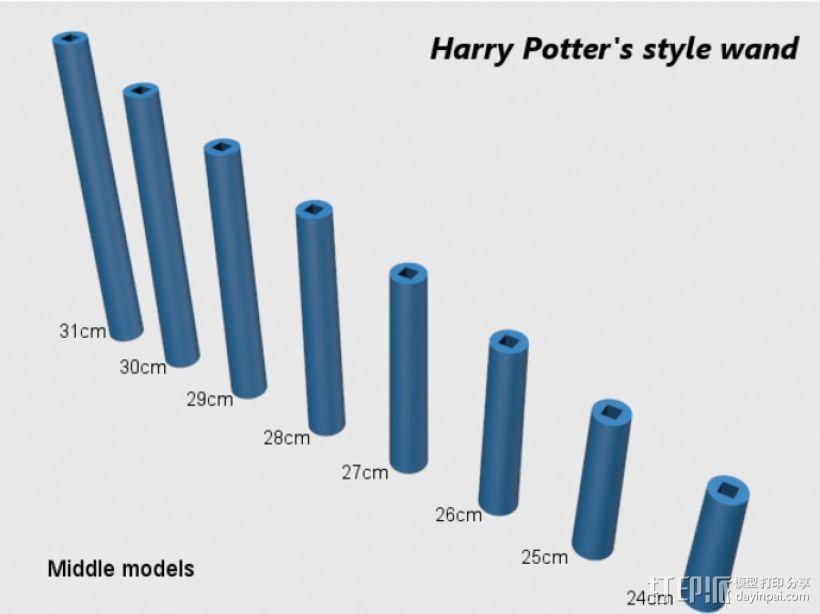 哈利波特式魔杖 3D模型  图3