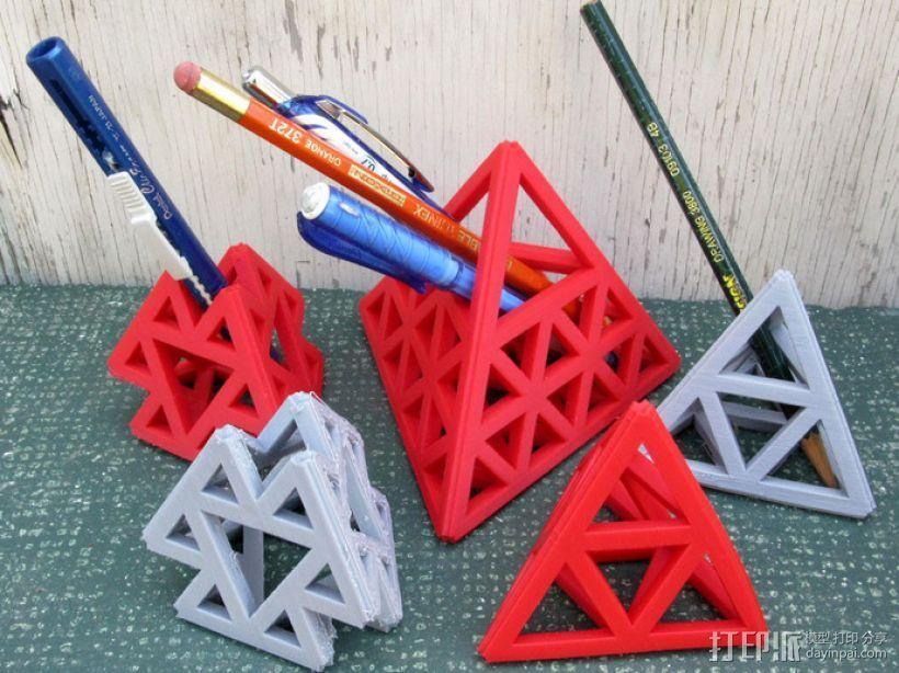 四面体摆件 笔架 3D模型  图1