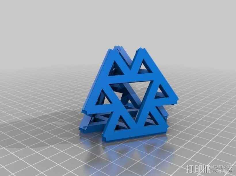 四面体摆件 笔架 3D模型  图2