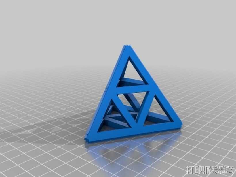 四面体摆件 笔架 3D模型  图3