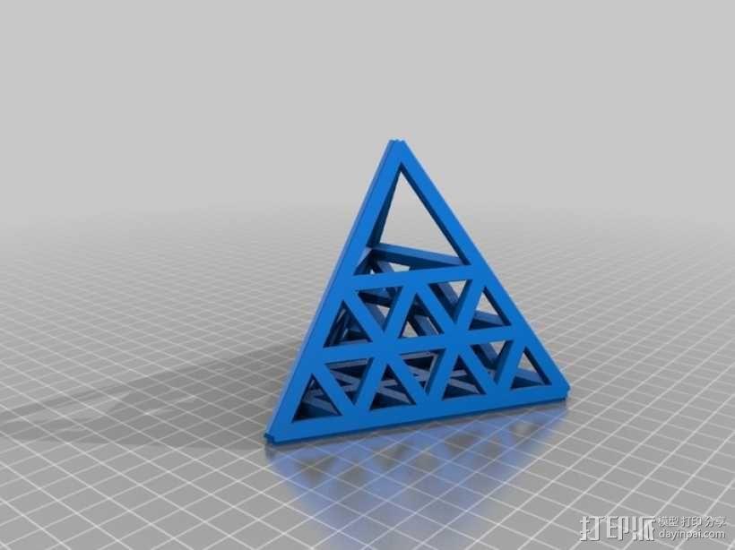 四面体摆件 笔架 3D模型  图4