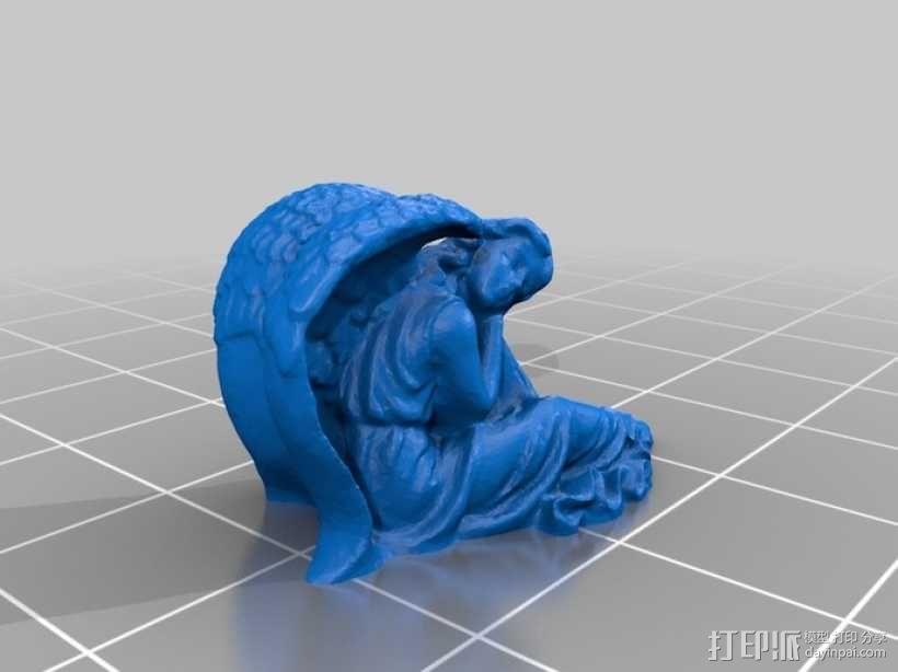 熟睡的天使 模型 3D模型  图2
