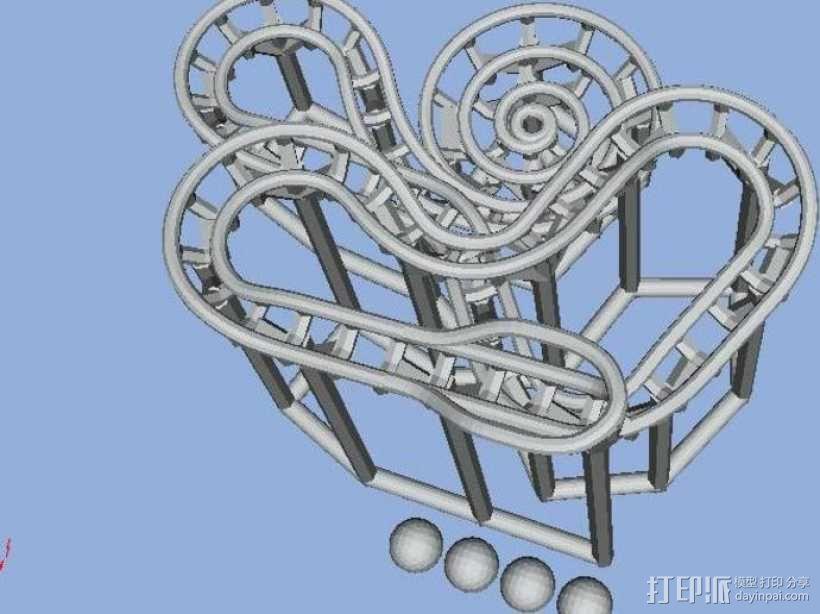 滚球轨道 3D模型  图3