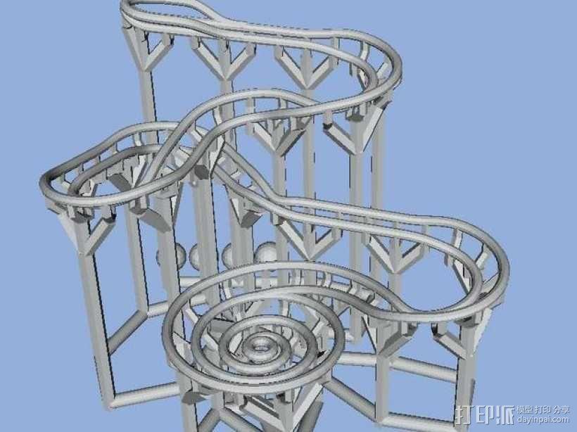 滚球轨道 3D模型  图1