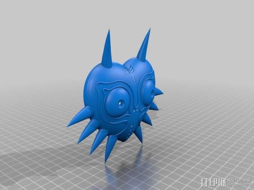 梅祖拉的假面 面具 3D模型  图1