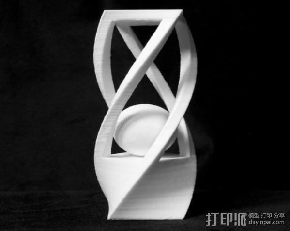 扭曲的笼子和小球 3D模型  图3