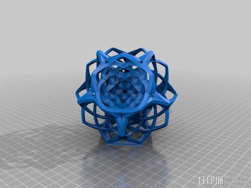 编织的十二面体 3D模型  图1