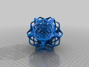 编织的十二面体 3D模型