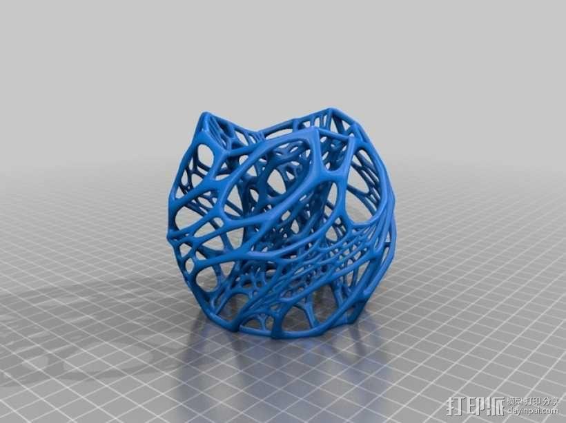 蜂窝形灯罩 3D模型  图1