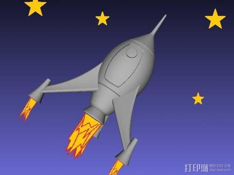 火箭 模型 3D模型  图2