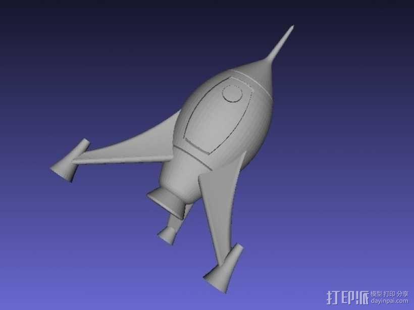 火箭 模型 3D模型  图5