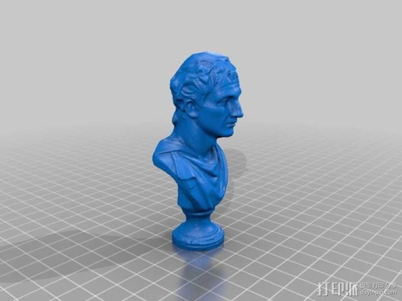 米南德雕塑 3D模型  图2