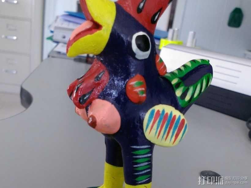 大公鸡 3D模型  图1