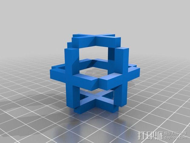 立方体结构 3D模型  图2
