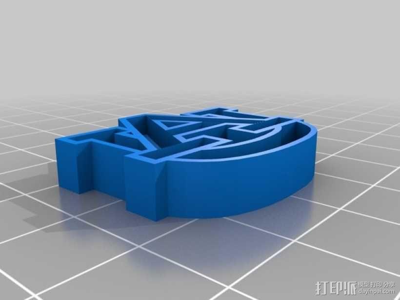 Auburn印章 3D模型  图2