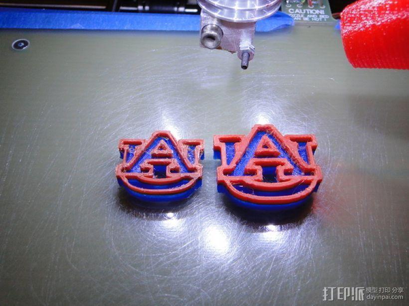 Auburn印章 3D模型  图1
