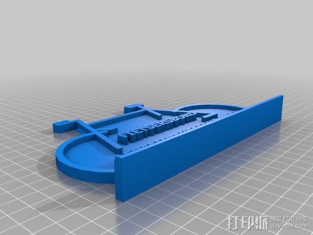 自行车形名牌 3D模型  图3