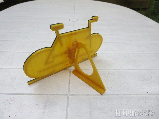 自行车形名牌 3D模型  图6