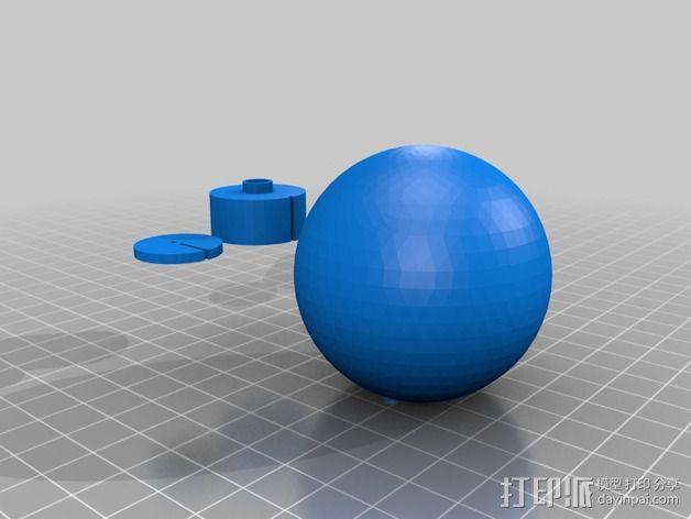 LED灯座 3D模型  图2