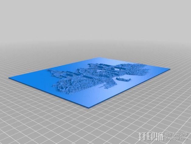 教堂石版画 3D模型  图2