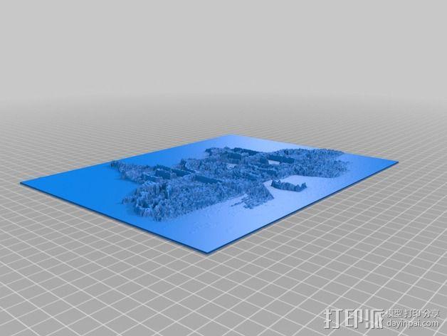 教堂石版画 3D模型  图3