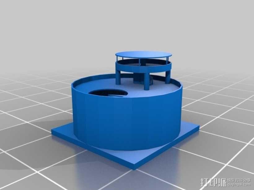 圆形建筑 模型 3D模型  图1