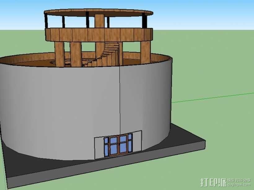圆形建筑 模型 3D模型  图2