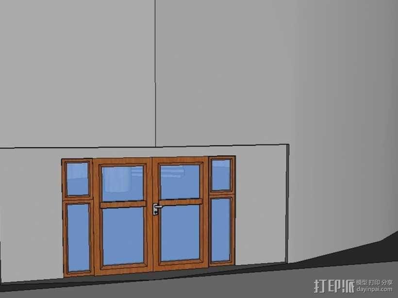 圆形建筑 模型 3D模型  图3