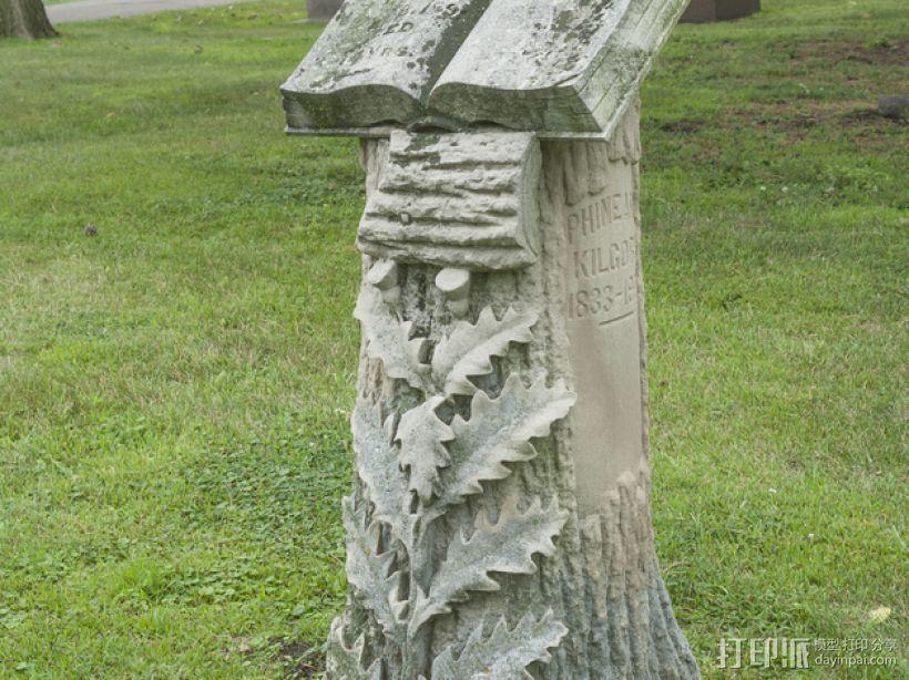Kilgore墓碑 模型 3D模型  图1