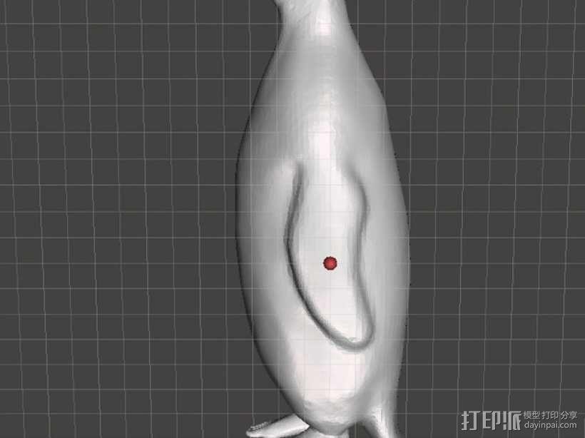 人脚企鹅 3D模型  图1