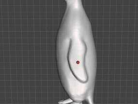 人脚企鹅 3D模型