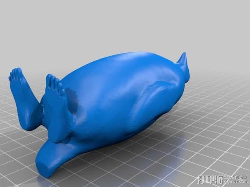 人脚企鹅 3D模型  图2