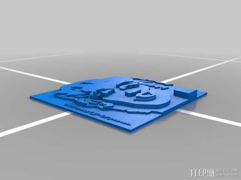 玛丽莲梦露挂饰 3D模型  图2