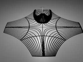 双曲线立体投影 3D模型