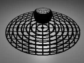 网格同心圆立体投影球 3D模型