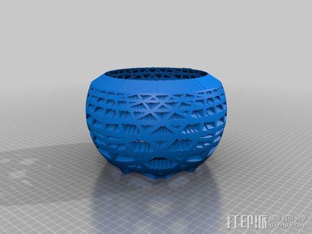 网格同心圆立体投影球 3D模型  图2