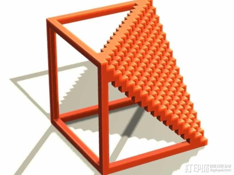 体素楼梯 3D模型  图1