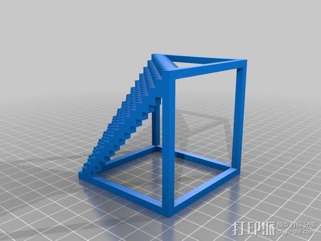 体素楼梯 3D模型  图2